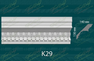 Карниз с орнаментом К29 <br/> 1 280 руб за м.п.
