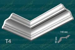 Карниз гладкий Т4 <br/> 825 руб. м/п.<br/> При необходимости размеры детали можно изменить.