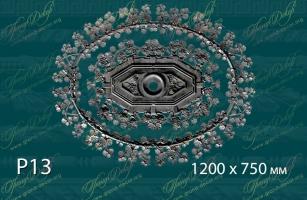 Розетка с орнаментом Р13 <br/> 17 000 руб за шт. Деталь на плите 10 мм.