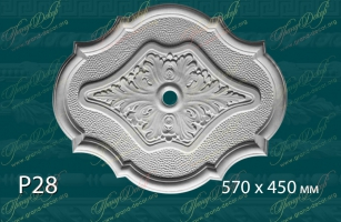 Розетка с орнаментом Р28 <br/> 920 руб за шт