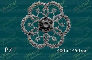 Розетка с орнаментом Р7<br/> 24 300 руб. за шт. Деталь на плите 10 мм.